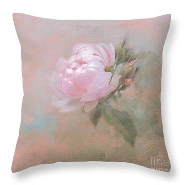 Ethereal Rose Throw Pillow