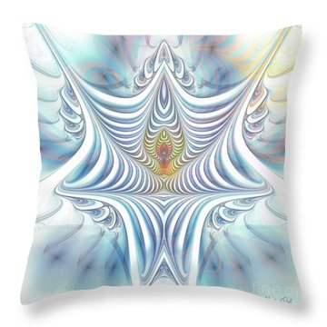 Throw Pillow featuring the digital art Ethereal Treasure by Jutta Maria Pusl