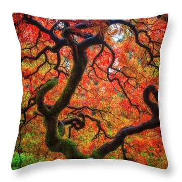 Ethereal Tree Alive Throw Pillow