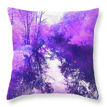 Ethereal Water Color Blossom Throw Pillow