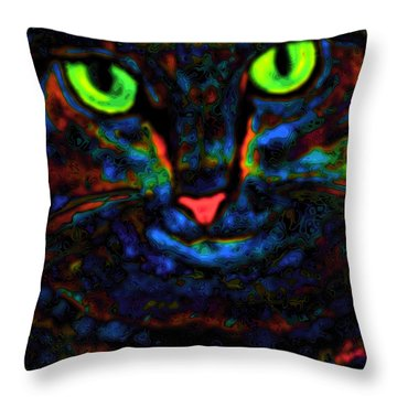 Ethical Kitty See's Your Dilemma Light 2 Dark Version Throw Pillow