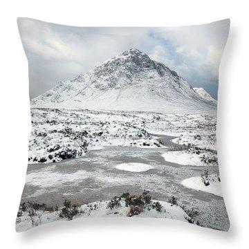 Etive Mor Winter Throw Pillow