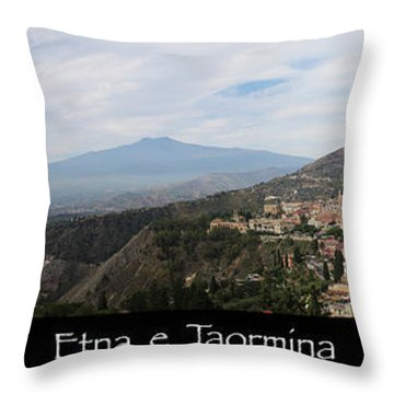 Etna E Taormina Throw Pillow