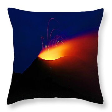 Throw Pillow featuring the mixed media Etna by Lucia Sirna