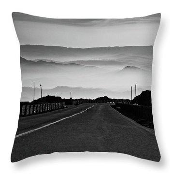 Etna Road Throw Pillow