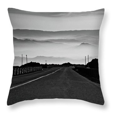 Etna Road Throw Pillow
