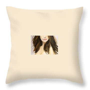 Throw Pillow featuring the painting Etoile by Ed Heaton
