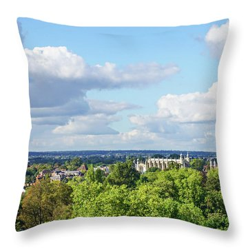 Eton College From Windsor Castle Throw Pillow
