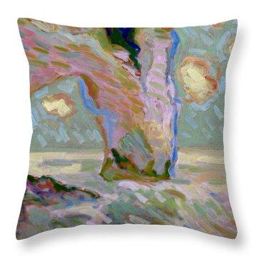 Etretat -1 Throw Pillow