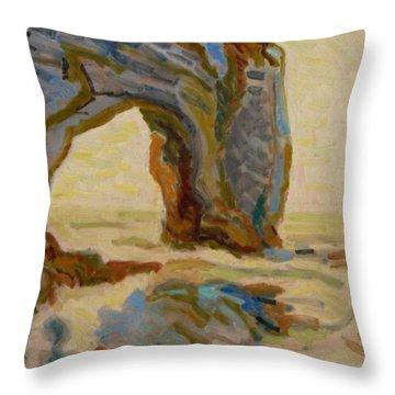 Etretat-4 Throw Pillow