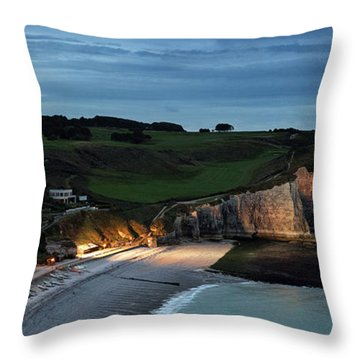 Etretat In The Evening Throw Pillow
