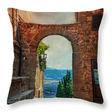 Throw Pillow featuring the photograph Etruscan Arch by Hanny Heim