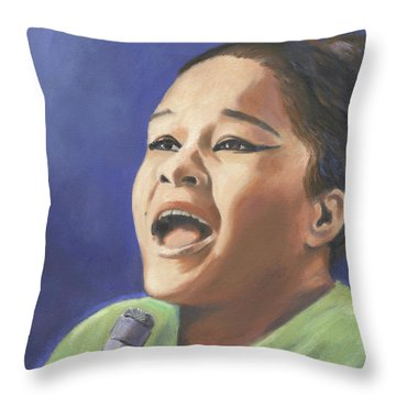 Etta James Throw Pillow