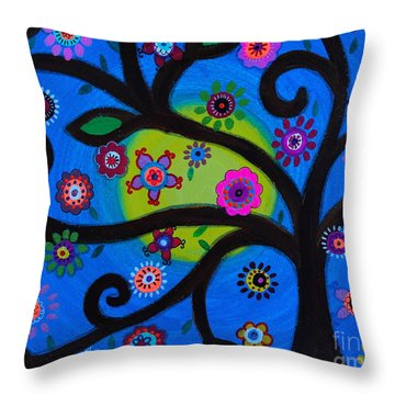 Throw Pillow featuring the painting Etz Chayim by Pristine Cartera Turkus