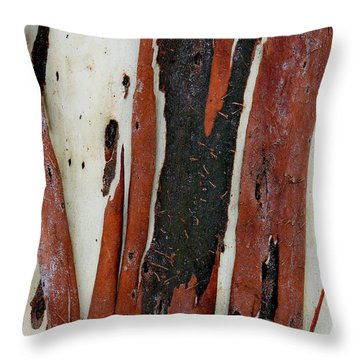 Eucalyptus Bark Abstract 2 Throw Pillow