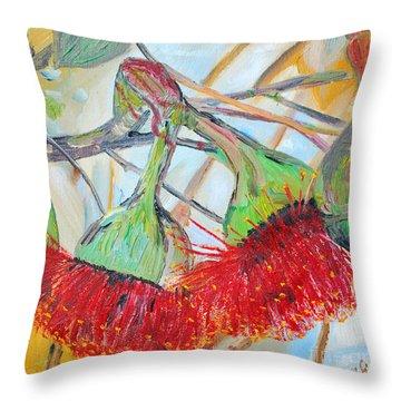 Eucalyptus Flowers Throw Pillow