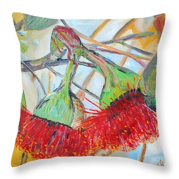 Eucalyptus Flowers Throw Pillow