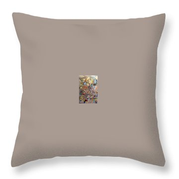 Throw Pillow featuring the painting Euclidean Perceptions by Bernard Goodman