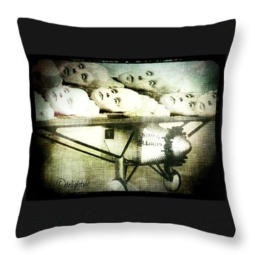 Throw Pillow featuring the digital art Eugenics 101 by Delight Worthyn
