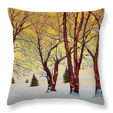 Euphoric Treequility Throw Pillow