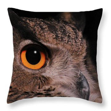 Eurasian Eagle-owl #3 Throw Pillow