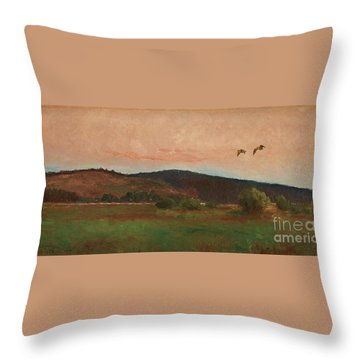 Eurasian Woodcocks Throw Pillow by MotionAge Designs