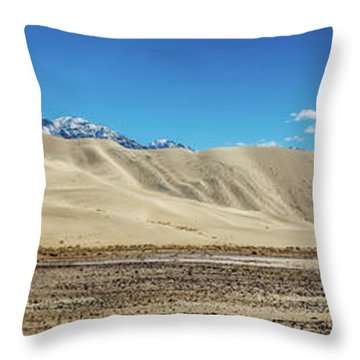 Throw Pillow featuring the photograph Eureka Dunes - Death Valley by Peter Tellone