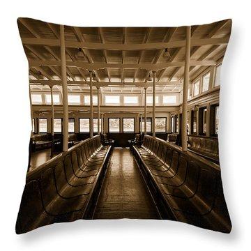Eureka Ferry Throw Pillow