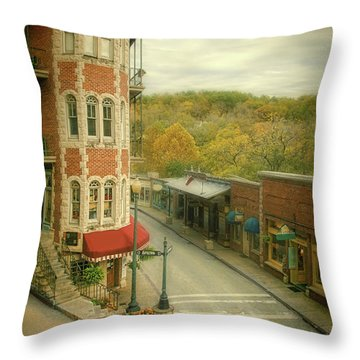 Eureka Springs Throw Pillow by Jill Battaglia