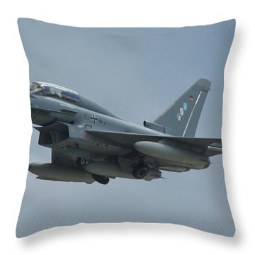 Throw Pillow featuring the photograph Eurofighter Ef2000 by Tim Beach