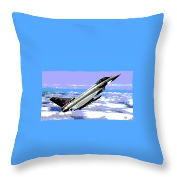 Eurofighter Typhoon Throw Pillow by Charles Shoup