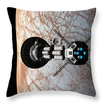 Throw Pillow featuring the digital art Europa Insertion by David Robinson