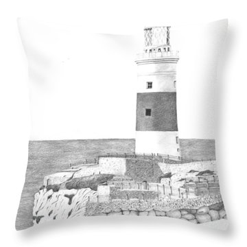 Europa Point Lighthouse Throw Pillow