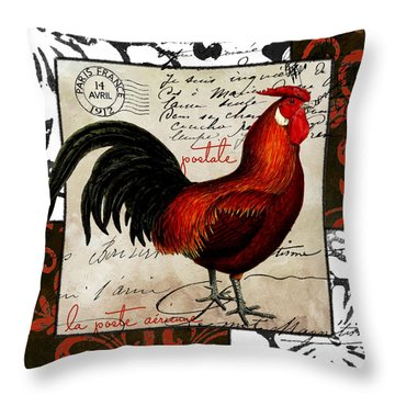 Europa Rooster II Throw Pillow