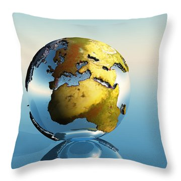 Europe And Africa Throw Pillow by Corey Ford