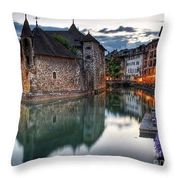 European Beauty 2 Throw Pillow
