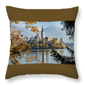 European Beauty Throw Pillow