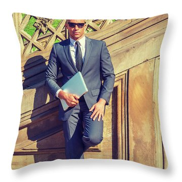 European Professional Travels, Works In New York Throw Pillow