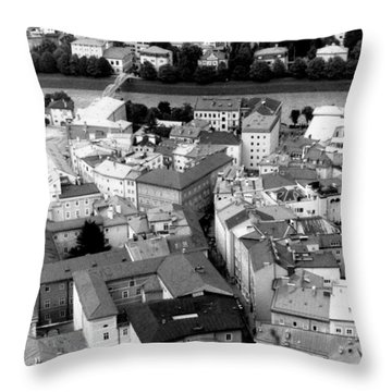 European Rooftops Throw Pillow by Michelle Calkins