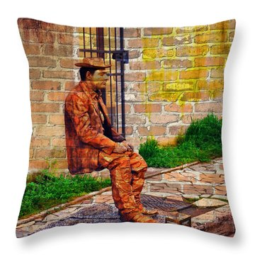 European Street Performer Throw Pillow