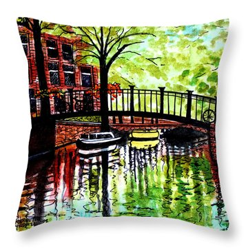 Throw Pillow featuring the painting European Travels by Elizabeth Robinette Tyndall