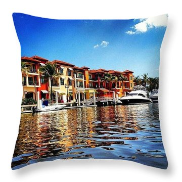 Kayaking At Naples Bay Resort Throw Pillow by Janel Cortez