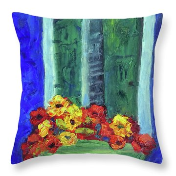 European Window Box Throw Pillow
