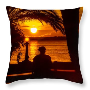 Throw Pillow featuring the photograph Eustis Sunset by Christopher Holmes