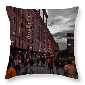 Eutaw Street Throw Pillow