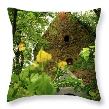 Evangelical Stone Chapel In Transylvania Throw Pillow