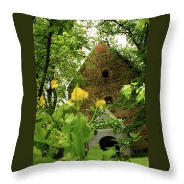 Throw Pillow featuring the photograph Evangelical Stone Chapel In Transylvania by Emanuel Tanjala