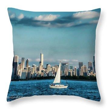 Evan's Chicago Skyline  Throw Pillow