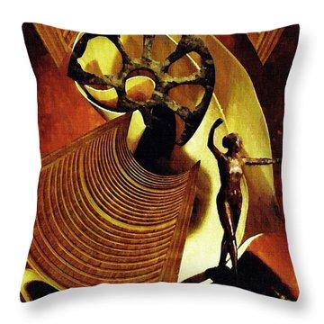 Eve Balanced On A Tightrope Throw Pillow by Sarah Loft