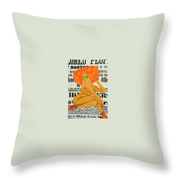 Eve  Caution Throw Pillow by Deedee Williams